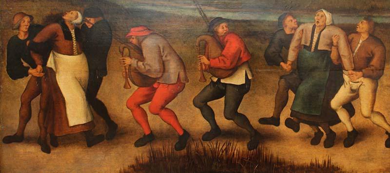 Танец святого Вита на картине Питера Брейгеля Младшего.