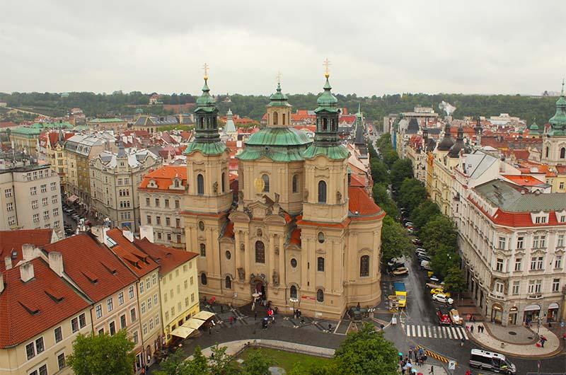 Вид на церковь святого Николая.