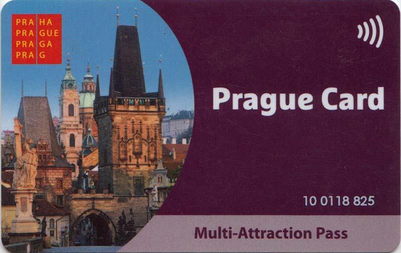 Лицевая сторона Пражской карты (Prague card).