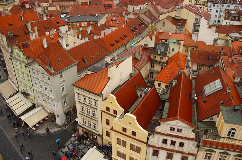 Старе-Место. Вид с башни Старой городской ратуши.